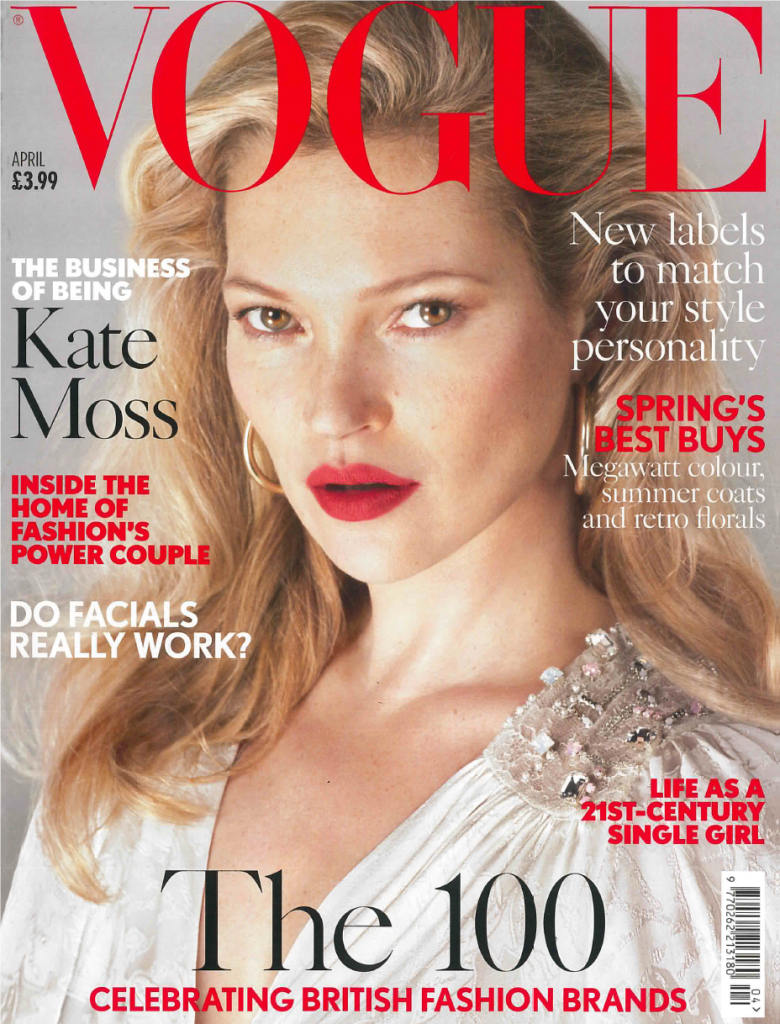 VOGUE UK Magazine April 2017 KATE MOSS Bruce Weber JAMES NORTON Frederikke Sofie