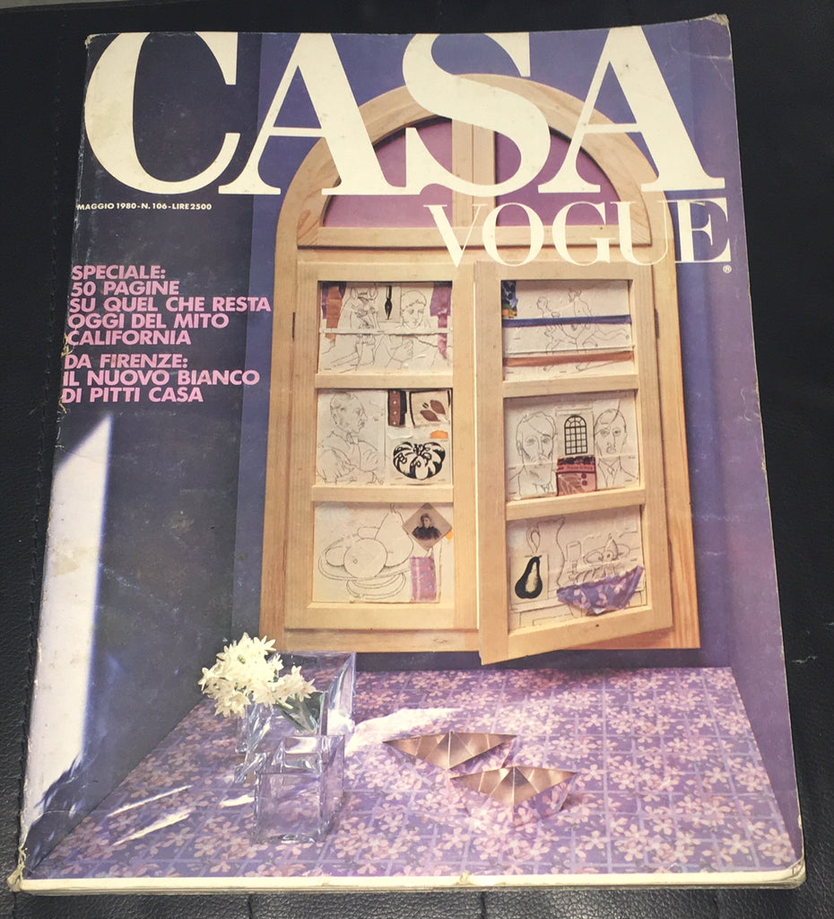 CASA VOGUE Magazine Italy May 1980 Issue #106 Vintage