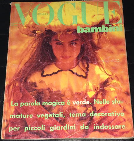 Vintage VOGUE BAMBINI Kids Children Enfant Fashion ITALIA Magazine November 1990