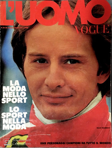 L'UOMO VOGUE Magazine June 1979 GILLES VILLENEUVE John McEnroe PETER FLEMING