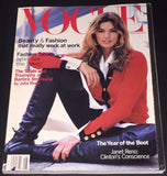 VOGUE US Magazine August 1993 CINDY CRAWFORD Christy Turlington JAIME RISHAR