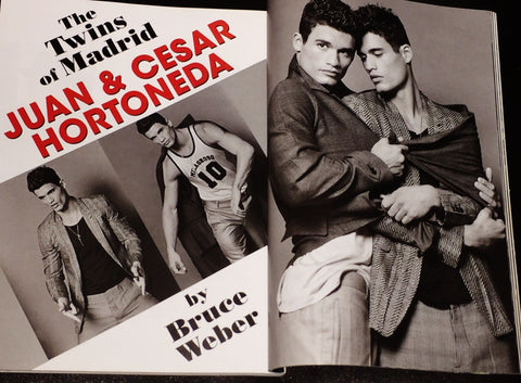 BRUCE WEBER Twins of Madrid , Juan & Cesar Hortoneda 10 pages Fashion Magazine