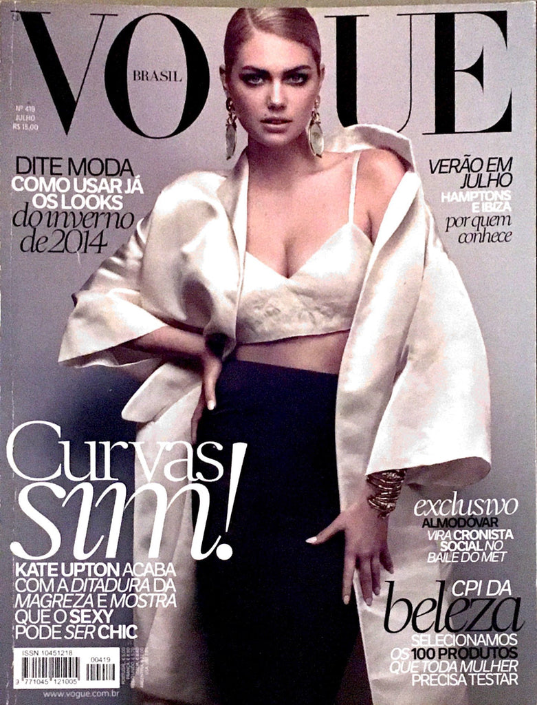 VOGUE Brazil Magazine July 2013 KATE UPTON Laetitia Casta AVA SMITH Anna Ewers