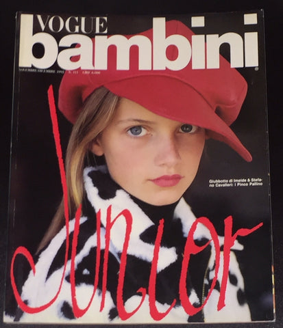 Vintage VOGUE BAMBINI Kids Children Enfant Fashion ITALIA Magazine November 1992