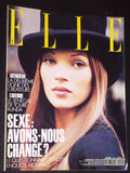 ELLE France Magazine November 1992 KATE MOSS Nadja Auermann PAMELA HANSON