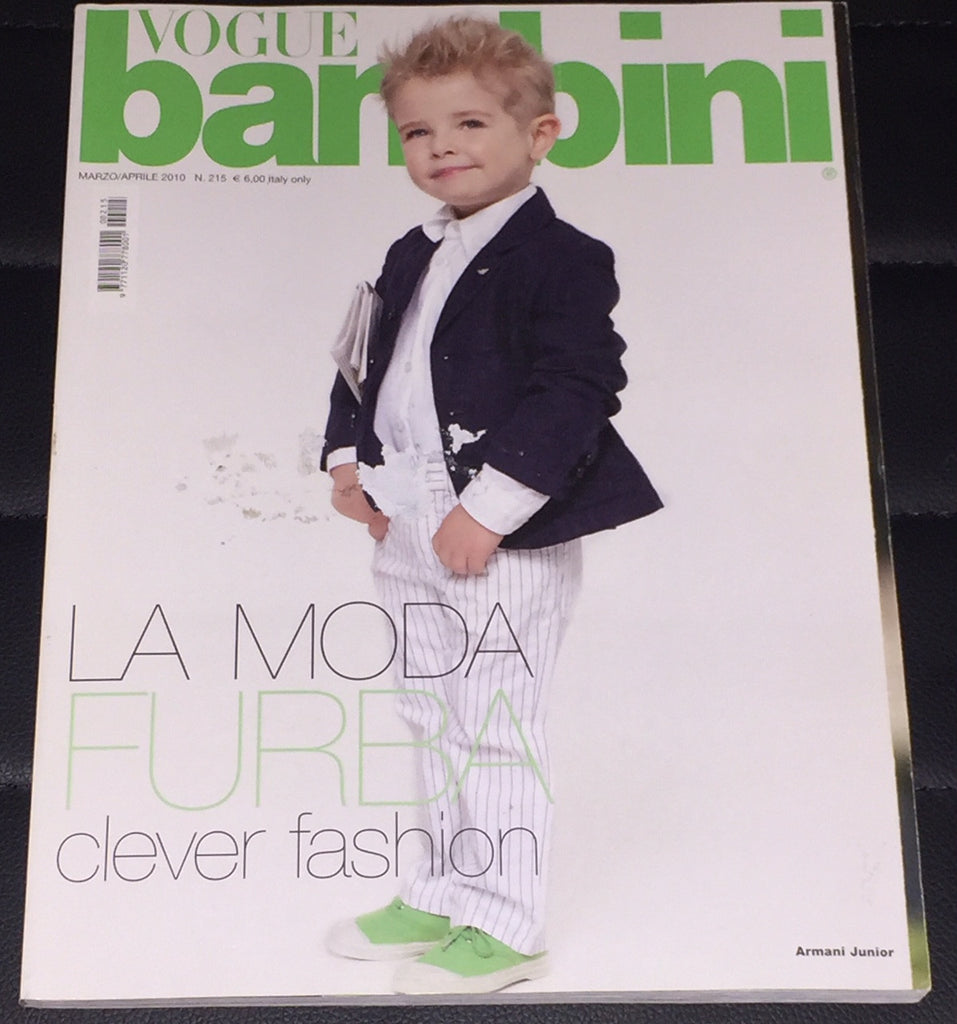 VOGUE BAMBINI Kids Children Enfant Fashion ITALIA Magazine March 2010