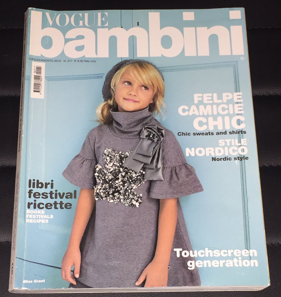 VOGUE BAMBINI Kids Children Enfant Fashion ITALIA Magazine July 2010