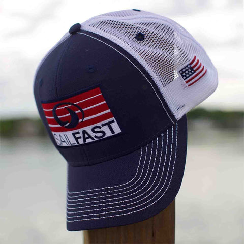 SailFast Apparel Accessories Patriot Trucker Cap