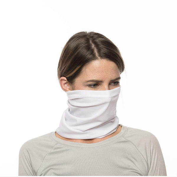 SailFast Apparel, LLC Buff White / Medium 'Solid Color UPF50' - Neck Gaiter - (2-Sizes) (5-Colors)