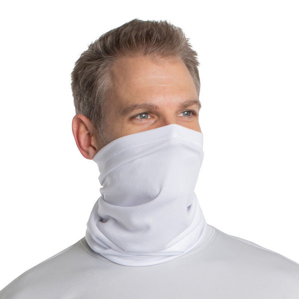 SailFast Apparel, LLC Buff White / Regular 'Solid Color UPF50' - Neck Gaiter - (2-Sizes) (5-Colors)