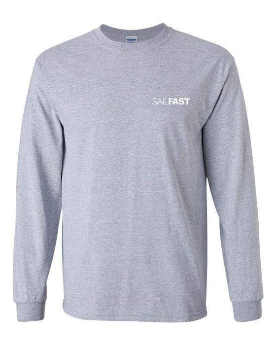 SailFast Apparel, LLC Cotton 'Cape' (2-colors) Men's 100% Cotton Long Sleeve T-Shirt