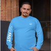 SailFast Apparel, LLC Cotton Medium / Sea Blue 'Waypoint' (2-colors) 100% Cotton Long Sleeve Comfort