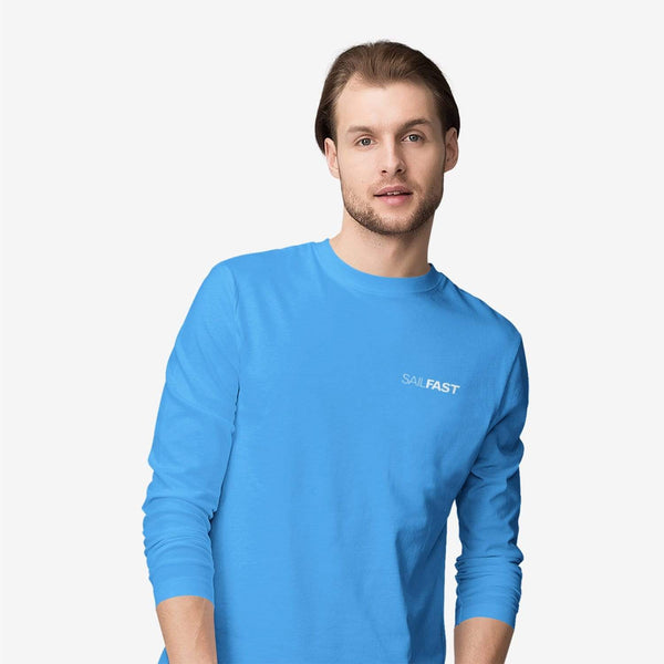 SailFast Apparel, LLC Cotton Medium / Sky Blue 'Cape' (2-colors) Men's 100% Cotton Long Sleeve T-Shirt