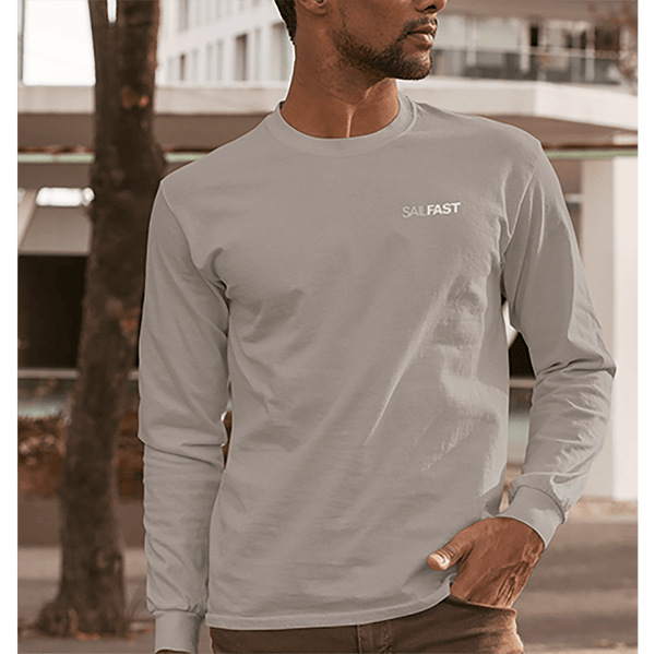 SailFast Apparel, LLC Cotton Small / Sport Grey 'Cape' (2-colors) Men's 100% Cotton Long Sleeve T-Shirt