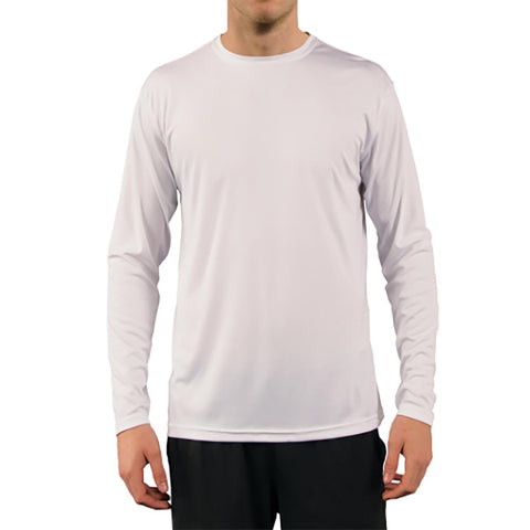 SailFast Apparel, LLC Mens Sailing Shirt  Tech Performance White Long Sleeve