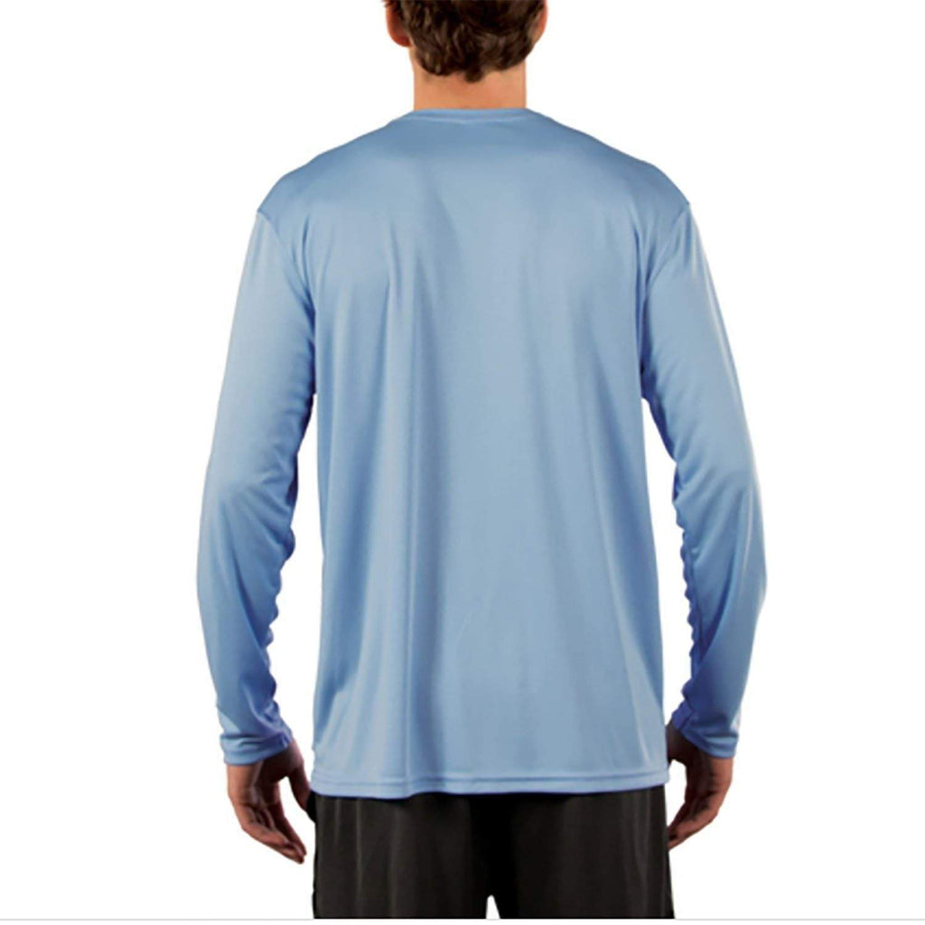 SailFast Apparel Performance Shirt Horizon Mens Sailing Shirt - Performance - Columbia Blue UPF 50+