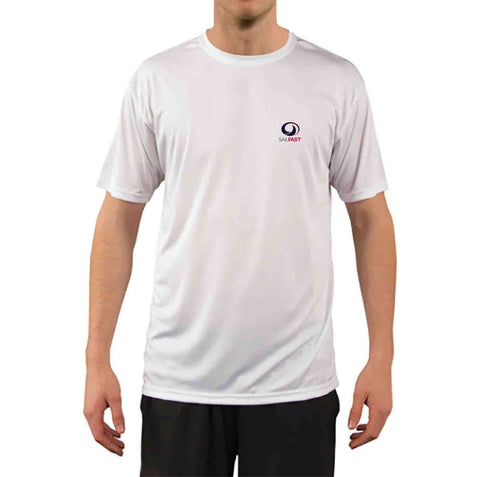 SailFast Apparel Performance Shirt 'Reef' Mens Performance Sailing Shirt - White Short Sleeve
