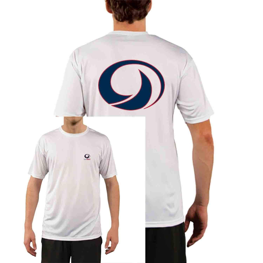 SailFast Apparel Performance Shirt Mens Sailing Shirt Tech Performance White Short Sleeve