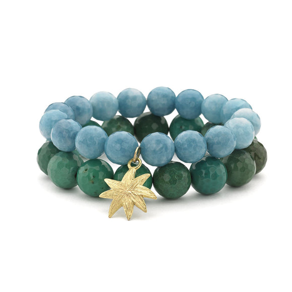 Hope Star Gemstone Bracelet in Angelic Agate