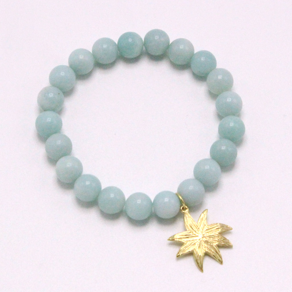 Hope Star Gemstone Bracelet in Amazonite - BRACELET IS $68 USE CODE NEW20