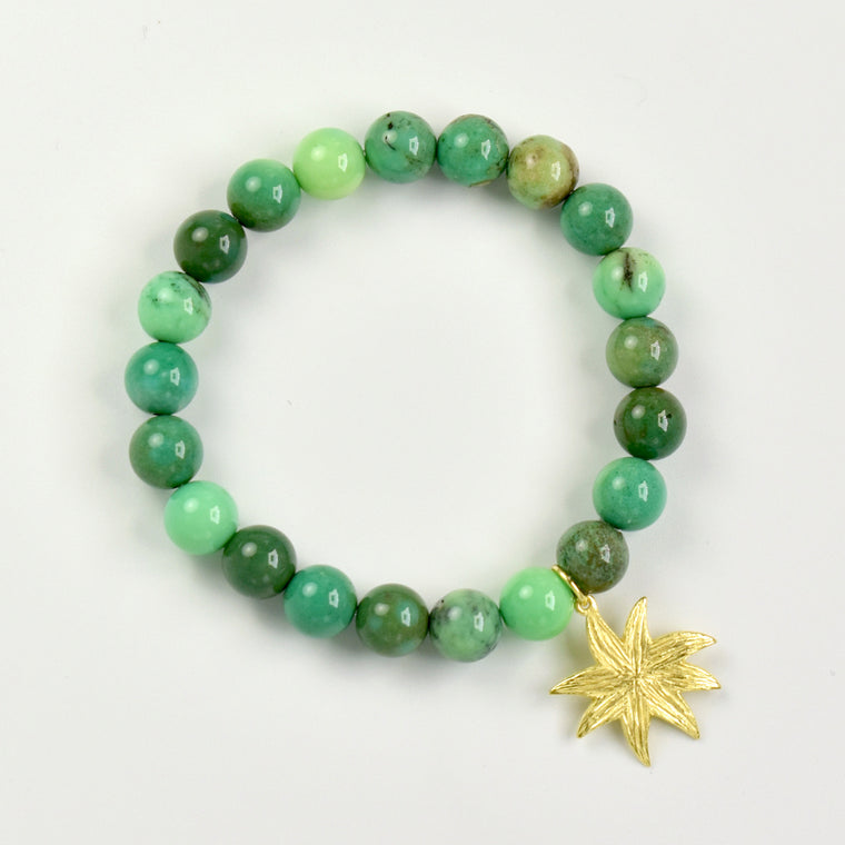 HopeStar Gemstone Bracelet in Green Grass Agate - PRICE IS $37.50 WHEN USE CODE SUMMERFINAL50 FOR 50% OFF