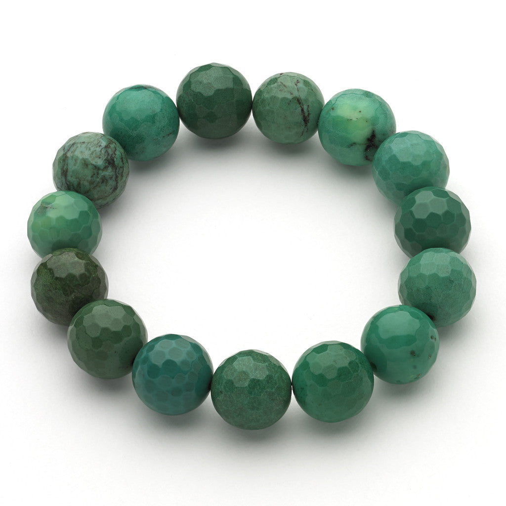 Green Grass Agate Stretch Bracelet
