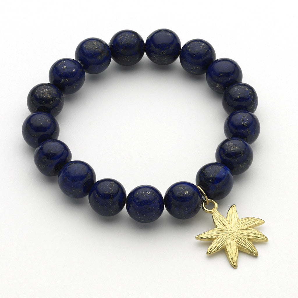 Hope Star Gemstone Bracelet in Lapis