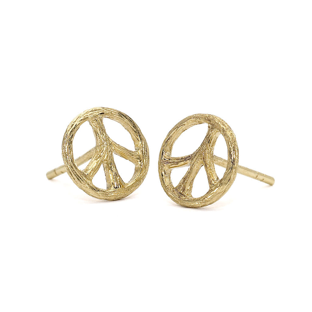 Tree of Life Peace Posts - 18kt Gold - USE CODE HOORAY50 FOR AN EXTRA 50% OFF
