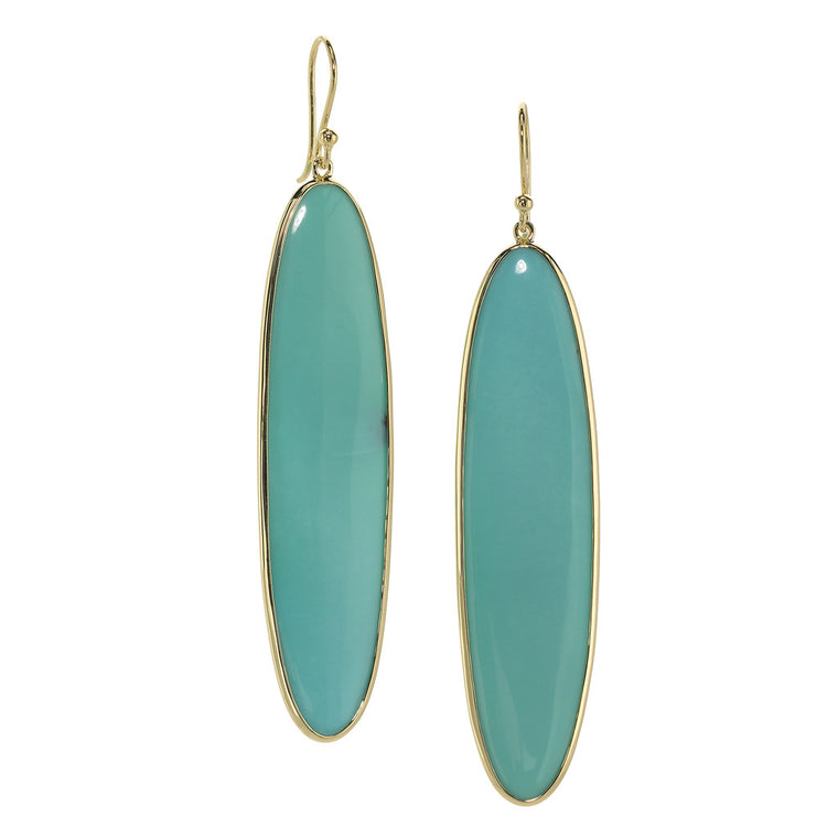 *SPECIAL ORDER* Holey Surfer Earring in Kingman Mine Turquoise - 18kt Gold - USE CODE SPECIALORDER50 and only pay a 50% deposit of $597.50