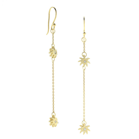 Double Wish Earrings - 18kt Gold & Diamonds - PRICE IS $399 WHEN YOU USE CODE HOORAY50 FOR AN EXTRA 50% OFF
