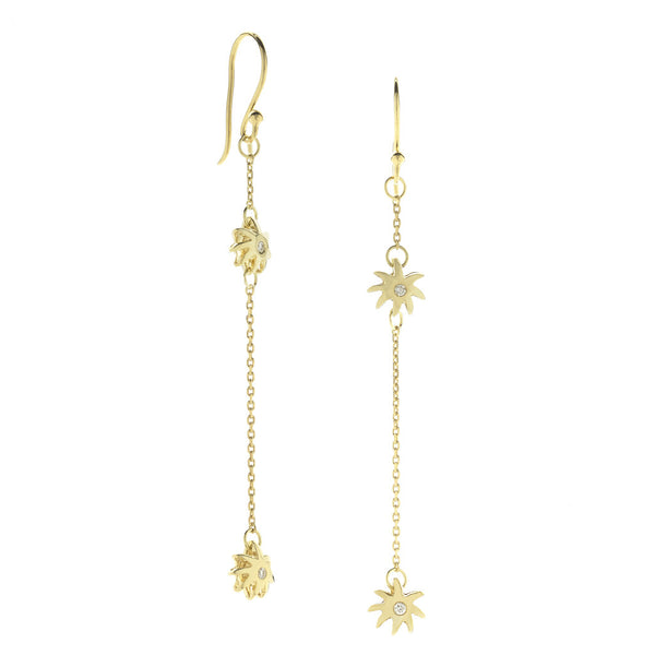 Double Wish Earrings - 18kt Gold & Diamonds - USE CODE SPRING30 FOR AN EXTRA 30% OFF