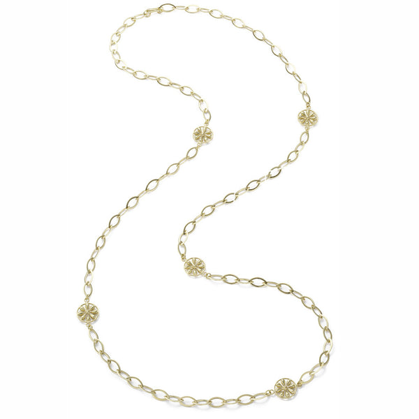 18kt Gold Marquis Pinwheel Chain Necklace - USE CODE FESTIVE30 FOR 30% OFF