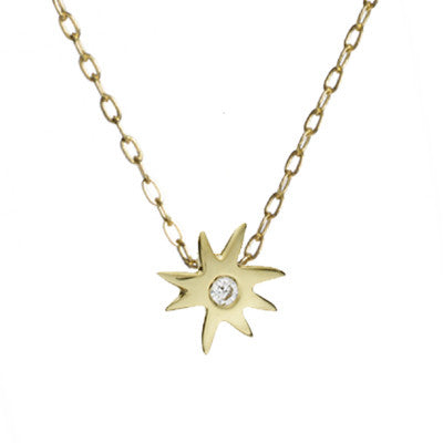Original Petite Hope Star Necklace in 14kt Gold Over Silver