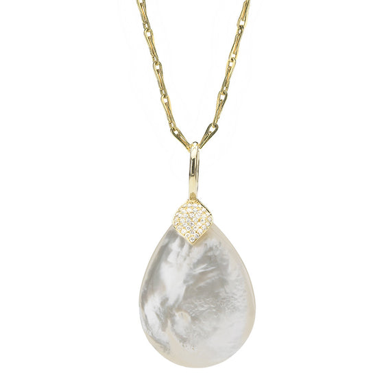 *SPECIAL ORDER* Eliza Large Pendant in Mother of Pearl & Diamond - USE CODE SPECIALORDER50 and only pay a 50% deposit of $1150