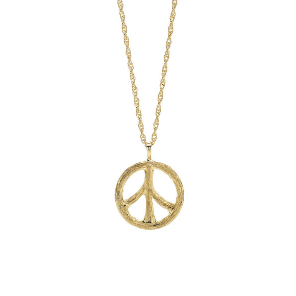 Tree of Life Peace Necklace in 18kt Gold - Special Order