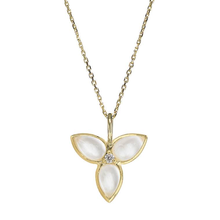 Mariposa in Flight Necklace in Mother of Pearl in 18kt Gold - Special Order