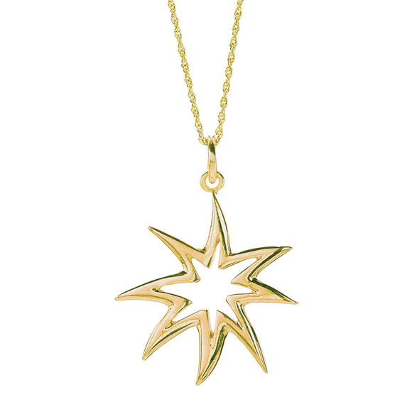 Hope Star Silhouette Necklace - 14kt Gold Over Silver