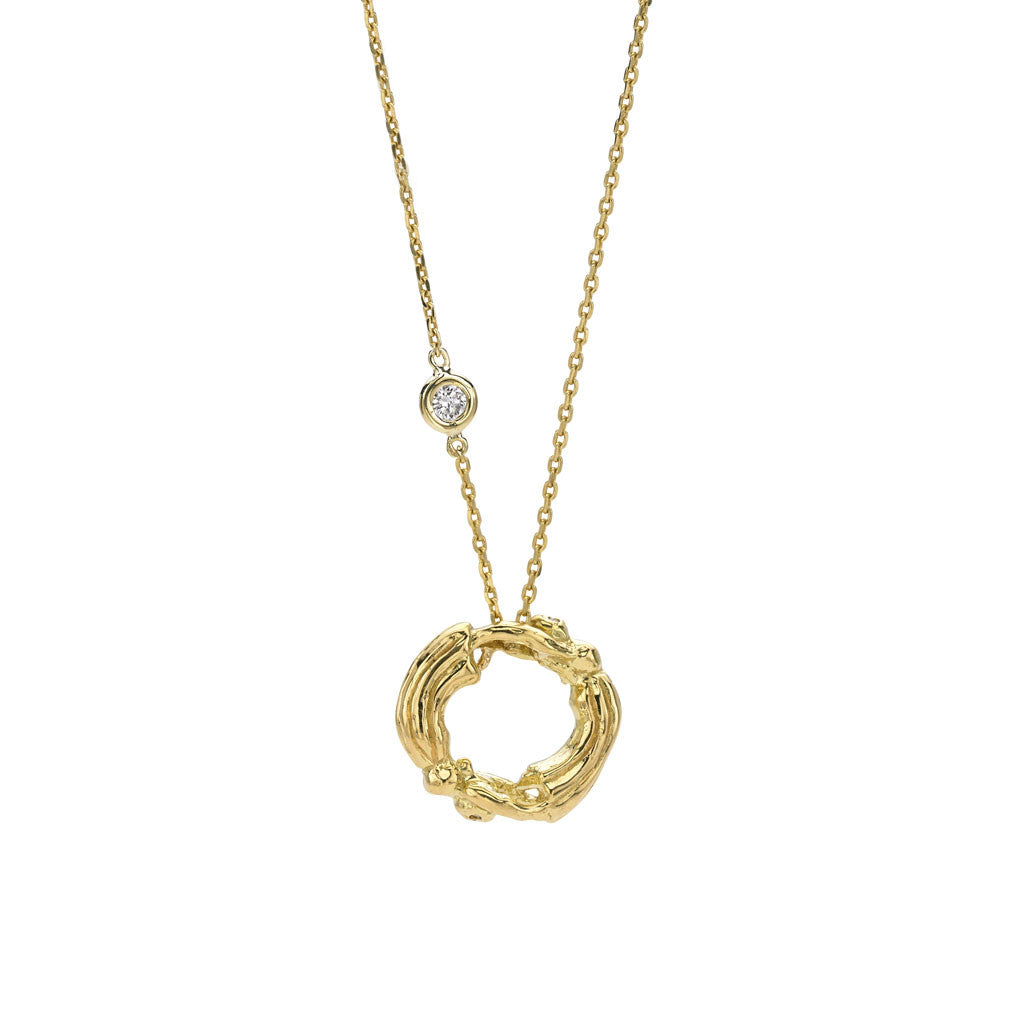 Gemini Zodiac Necklace (May 21 - June 20) - 18kt Gold