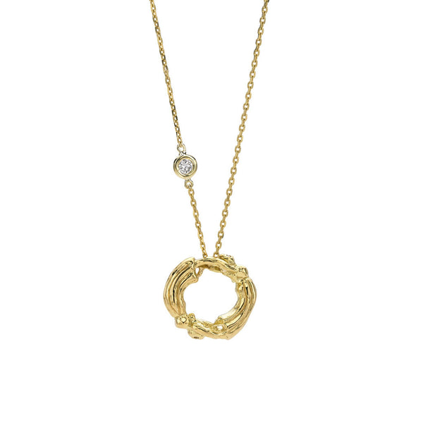 Gemini Zodiac Necklace (May 21 - June 20) - 18kt Gold - SPECIAL ORDER ONLY