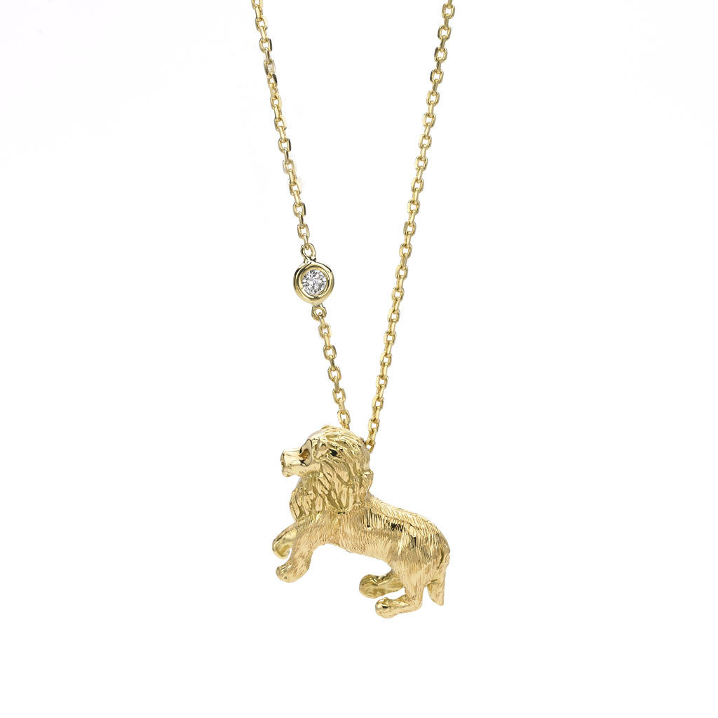 Leo Zodiac Necklace (July 23 - Aug. 22) - 18kt Gold