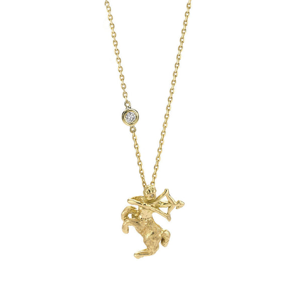 Sagittarius Zodiac Necklace - 18kt Gold - USE CODE SPRING30 FOR AN EXTRA 30% OFF