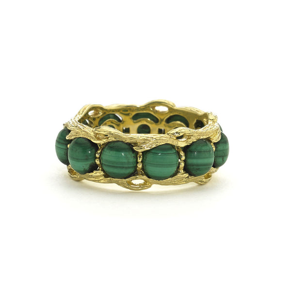 Bird's Nest Eternity Ring in Malachite- 18kt Gold - USE CODE HOORAY50 FOR AN EXTRA 50% OFF