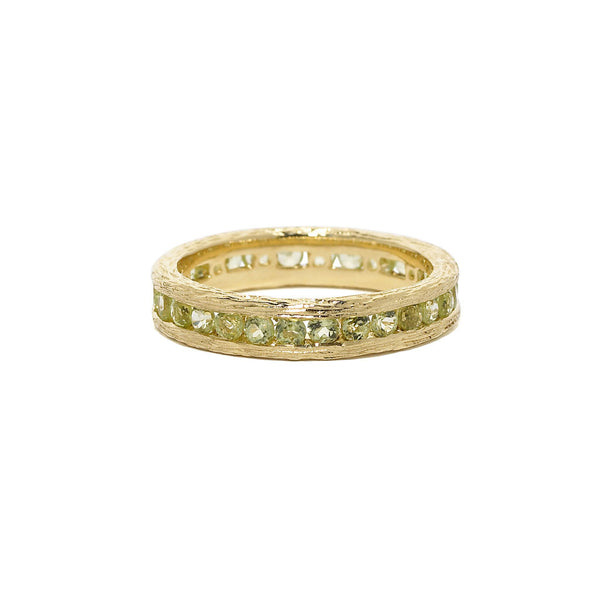 Birch Channel Stack Ring in Peridot - 18kt Gold - USE CODE HOORAY50 FOR AN EXTRA 50% OFF
