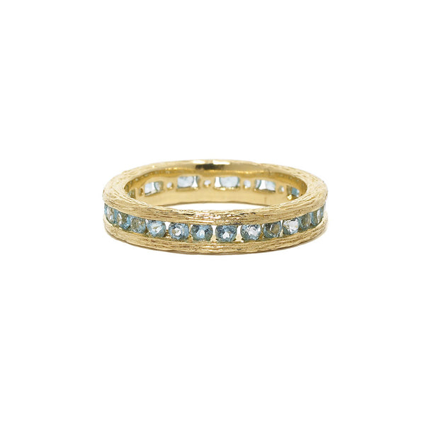 Birch Channel Ring in Swiss Blue Topaz - 18kt Gold - USE CODE HOORAY50 FOR AN EXTRA 50% OFF