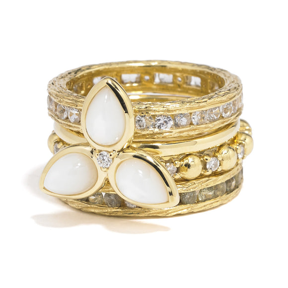 *SPECIAL ORDER* Mariposa Ring in Mother of Pearl - 18kt gold - USE CODE SPECIALORDER50 and only pay a 50% deposit of $525