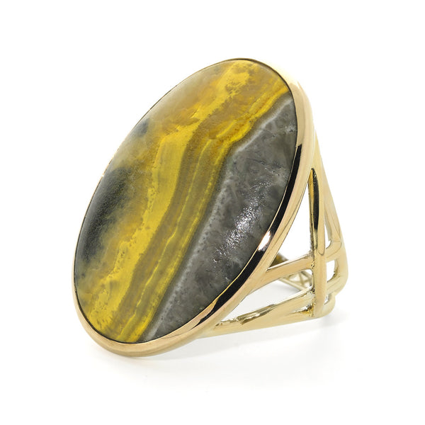 Ring in Bumblebee Agate - 18kt Gold - USE CODE HOORAY50 FOR AN EXTRA 50% OFF