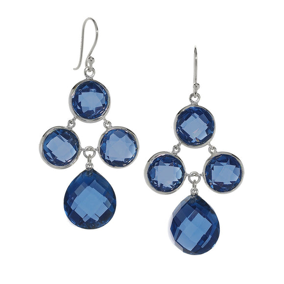 Audrey Chandelier Earrings in Created London Blue Sapphire in Sterling Silver