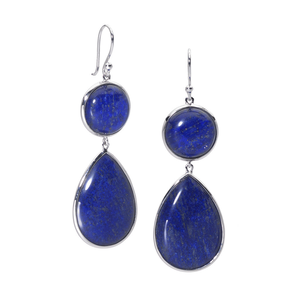 Mirabella Earrings in Lapis - Sterling Silver - Special Order