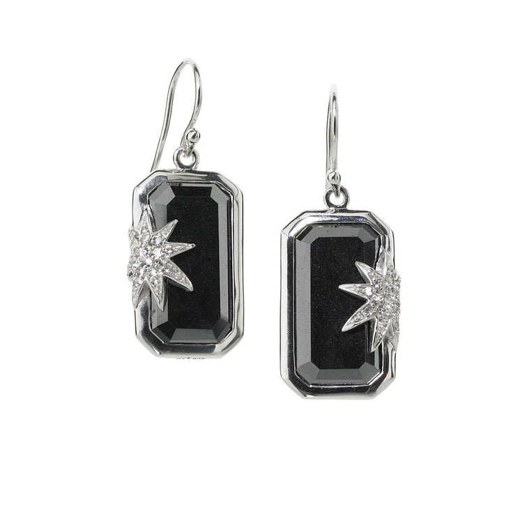 *SPECIAL ORDER* Hope Star Deco Earrings in Hematite in Sterling Silver -USE CODE SPECIALORDER50 and only pay a 50% deposit of $192.50