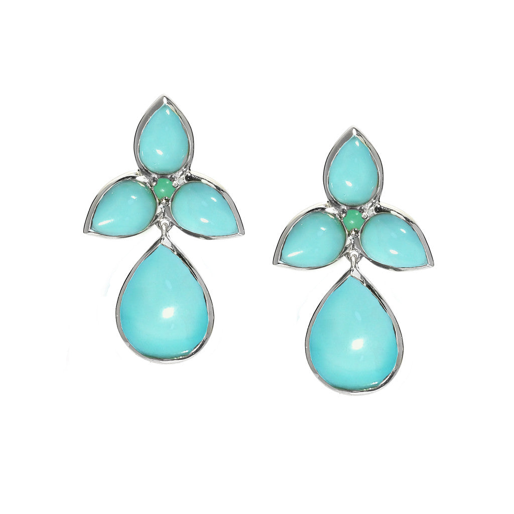 Mariposa Post & Drop Earrings in Kingman Mine Turquoise - JUST SOLD OUT - NOW AVAILABLE BY SPECIAL ORDER